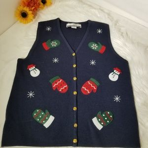 Crystal Kobe Jackets & Coats - Christmas Vest Crystal Kobe Sweater Size S